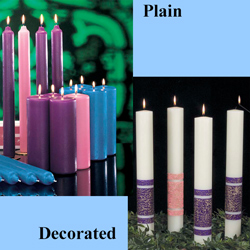 Church Advent Candles