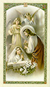 Holy Card-Communion, Girl, Eng