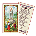 Holy Card-Lady Of Fatima