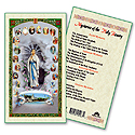 Holy Card-Lady Of The Rosary, Mysteries
