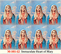 Holy Card-Sheet, Immaculate