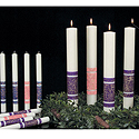 Advent Candles, Decorated