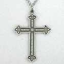 Pectoral Cross & Cord, Pewter
