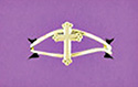 Ring-Cross, Gold Plate
